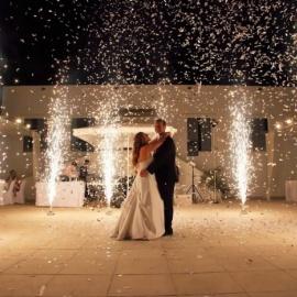 Свадебная дорожка из холодных фонтанов